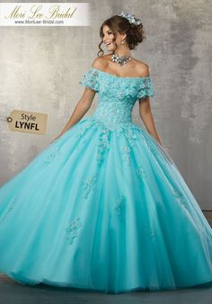 Quinceanera dresses and vestidos de quinceanera with bright colors and fancy designs! Browse our quinceanera dresses today! Mori Lee Quinceanera Dresses, Turquoise Quinceanera Dresses, Quinceanera Party, Cinderella Quinceanera Dress, Ball Gown Dresses, Pageant Dresses, Dresses Dresses, Evening Dresses, Sweet 16 Dresses