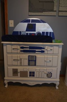 Star Wars Nursery - Baby Star Wars - Ideas of Baby Star Wars - Dresser and Changing Table Top from Doin' It with Jamie: Star Wars Nursery