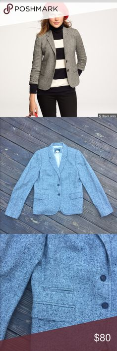 JCrew Schoolboy Wool Blazer A classic winter addition to any closet! This blazer is a flattering piece that every woman needs as part of their closet for the years to come. J. Crew Jackets & Coats Blazers
