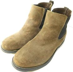269d933ba4e1 Men s Merona Suede Leather Slip-On Boots US 11M Brown Excellent Condition  ONLY 1