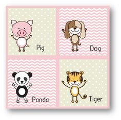 Cute Animals Pig and Friends Pink | Mooshimoo