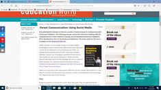 Use Social Media to Communicate With Parents Media Communication, Education World, Computer Network, Science Fair, Science Activities, Student Work, Teaching English, Social Media Tips, Classroom Management