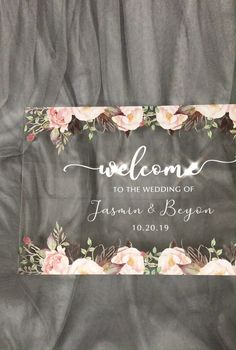 Wedding inspiration: Blush and pink custom acrylic wedding welcome sign for blush themed wedding Wedding inspiration: Blush and pink custom acrylic wedding welcome sign for blush themed wedding ,Hochzeit S + A As low. Acrylic Wedding Invitations, Wedding Invitation Cards, Wedding Stationery, Wedding Cards, Wedding Gifts, Pink Wedding Theme, Wedding Themes, Dream Wedding, Wedding Shot