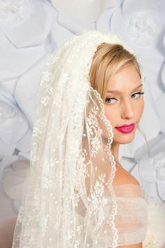 Fingertip lace Veil - Wedding Accessories by Tessa Kim - Loverly