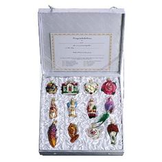 Bride's Tree Collection Boxed Set of 12 Christmas Ornament 14010 Merck Family's Old World Christmas This cherished collection of traditional glass ornaments makes a perfect gift