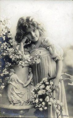 Pretty little Victorian girl. Ecclesiasties comes to mind , there is a season for everything under the sun..even this sweetie..sigh
