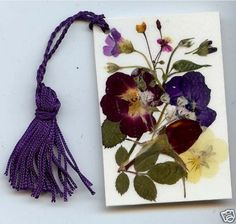 Pressed Flower Gifts | beautiful pressed flower bookmarks