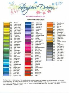 This chart came in so handy when I received my Tombow 96-piece brush market set!