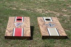 New Orleans Saints. Falcons. Cornhole