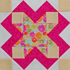 Be Happy Pieced Block 5 by Erin Russek at One Piece at a Time