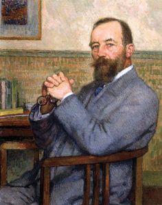 Portrait of Octave Van Rysselberghe by Theo van Rysselberghe (Belgian…