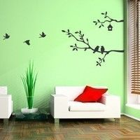 Cute Birds and Branches Decal - Vinyl Wall Decal