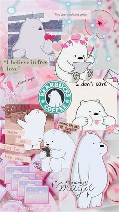 Cute Tumblr Wallpaper, Cute Panda Wallpaper, Dark Wallpaper Iphone, Cartoon Wallpaper Iphone, Iphone Wallpaper Tumblr Aesthetic, Bear Wallpaper, Cute Patterns Wallpaper, Cute Disney Wallpaper, Kawaii Wallpaper