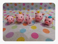 Bendito Açúcar (Iara Bolos): Família de porquinhos