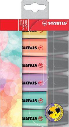 STABILO BOSS ORIGINAL Pastel - Etui 6 kleuren