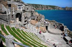 """The Minack Theatre is a unique open-air theatre created from the cliff side at Porthcurno, Cornwall. It's first performance was""""The Tempest"""" in 1932."""