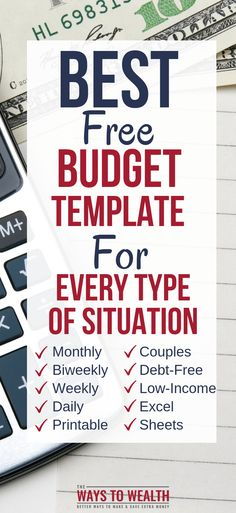 18 Best Monthly Budget Template Images On Pinterest Budget