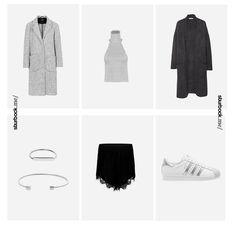 Unser Weekend-Look fällt diesmal knapper aus: Kurzes Ripp-Top mit Hosenrock mit Spitzensaum! Darüber ein langer Mantel und Strickjacke! Hier entdecken und shoppen: http://sturbock.me/pAI