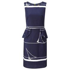 St. Ives Peplum Dress Navy