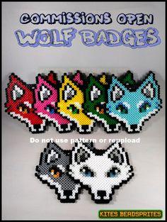 Wolf Perler Badges