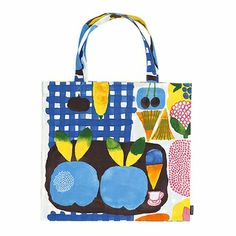 "Kesätori means ""Summer Market"" in Finnish, and this tote is the perfect carryall for groceries from the local farmer's market (among other things!) Marimekko Kesätori Multicolor Tote Bag - $38.50"
