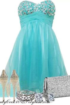 This is the perfect prom dress-but would probably pair with different shoes for a teenager!