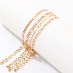 Jewelry metal chain bracelet 4-piece bracelet NHNZ190758