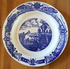 Erie Railroad Centennial Dinner Plate 1851-1951 100th Anniversary