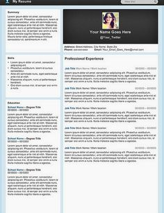 """Micro Blog"" Resume Template"