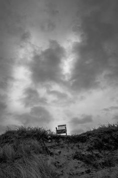 Abandonned chair at a beach