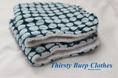 Tutorial for easy baby burp clothes