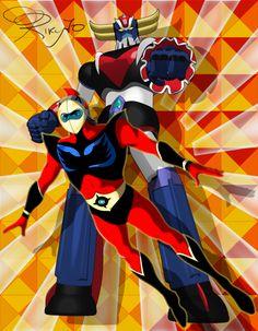 Robot Cartoon, Cartoon Art, Devilman Amon, Dragon Ball Z, Ulysse 31, Japanese Superheroes, Robot Girl, Mecha Anime, Super Robot