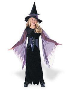 Mystic Witch Child Costume use for a maleficent costume girls add the horns and nix the hat, maybe some wings?  maleficent costume girls