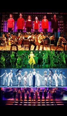 Musicals by color (Next to Normal; Once; Wicked; Anything Goes; Spring Awakening)