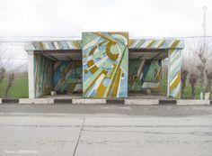 Termez, Uzbekistan bus stop from Soviet Bus Stop Photos by Photographer Christopher Herwig.