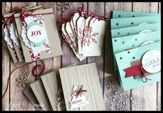 HOLLY JOLLY GREETINGS STAMP A STACK TUTORIALS-  Get a STACK of cards stamped and ready to send out! Class Planner includes instructions to create 12 cards (4 each of three designs) and 1 gift tag. All use the Holly Jolly Greetings stamp set available in the 2015 Stampin' Up Holiday Catalog