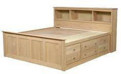 storage beds full size with drawers - Bing images Wood Bed Design, Bed Frame Design, Bedroom Bed Design, Bedroom Furniture Design, Bed Furniture, Furniture Plans, Furniture Stores, Design Design, Modern Furniture