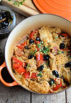 Spanish chicken and rice - Karen Burns-Booth - Try out this winter one-pot wonder, a tasty meal with minimal fuss and hassle.