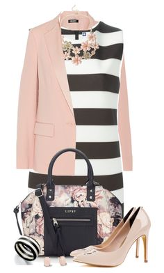 """""""Stripes + Floral Print"""" by jafashions ❤ liked on Polyvore"""