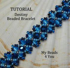 PDF Beading TutorialPDF Beaded Bracelet by mybeads4you on Etsy, instruction include design for the hugs and kisses bracelet