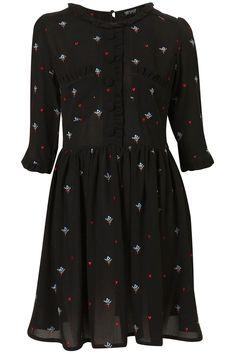 embroidered tea dress