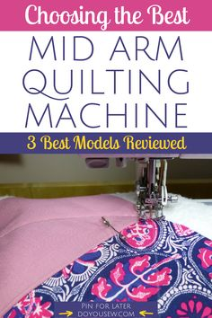Many quilters can make do with a regular sewing machine. However, larger projects can prove to be tricky due to lack of throat space. That's why long-arm machines were invented, to make quilters' lives easier. Read article for more! #doyousew #quilt #quilting #quiter #quiltingideas #sewer #sewist #quiltingmachine #sewingmachine #sewingmachinereviews #quiltingmachinereviews #seamstress #tailor #stitchers #diy #craft #midarmquiltingmachine Quilting Templates, Quilting Tutorials, Quilting Ideas, Quilt Patterns, Longarm Quilting, Free Motion Quilting, Machine Quilting, Arm Machine, Sewing Machine Reviews