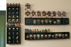 21 Various DIY Display Case Ideas to Keep your Beloved Stuff! - Home Decor Ideas Funko Pop Shelves, Funko Pop Display, Box Shelves, Display Shelves, Display Ideas, Display Cabinets, Display Cases, Sports Memorabilia Display, Nerd Room