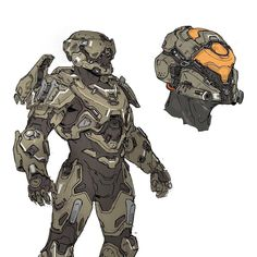 Armor sketches for Halo 5. #halo #Spartan #art #conceptart #sketch #digitalart #drawing #helmet