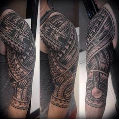All done #polynesian #tatau #tattoo #aloha #hawaii #samoa #tattoos #blackwork…