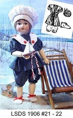 bleuette / NOUVELLES TENUES ... kimono 1925 ...robe tablier 1936 | Dolls - Antique dolls clothes | Pinterest | Kimonos, Blog and 'salem's lot