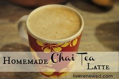 Homemade Chai Tea Latte Recipe Try this wonderful coffee-alternative drink with a dairy-free option! Chai Latte | Chai Recipes | Fall Drinks