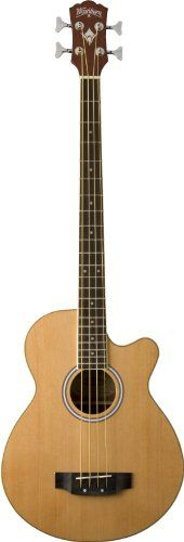 Washburn Acoustic Basses AB5K Acoustic Bass, Natural * You can get additional details at the image link.