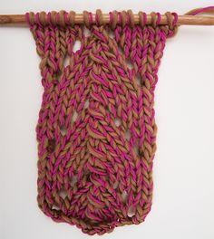 Comment tricoter le point dentelle magique