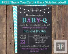 INSTANT DOWNLOAD, Baby-Q Invitation, Editable Printable Baby-Q Invitation, BabyQ Invitation, BBQ Girl Baby Shower Invitation, Adobe Reader